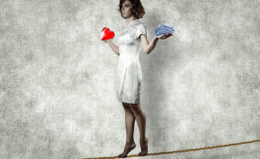 Girl On A Rope with heart and brain