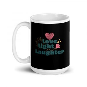 Love, Light, and Laughter Mug Black