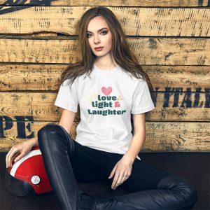 Love Light Laughter Short-Sleeve Unisex T-Shirt